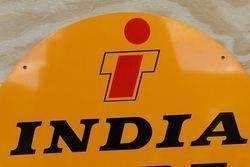 Round India Tyre Stockist Aluminum Advertising Sign