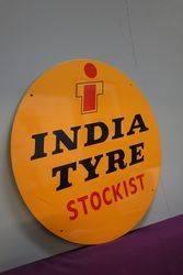 Round India Tyre Stockist Tin Advertising Sign