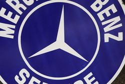Round Mercedes Benz Service Enamel Advertising Sign