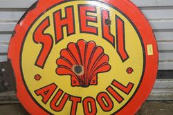Round Shell Auto Oil Double Sided Enamel Advertising sign