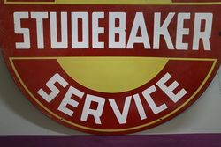 Round Studebaker Sales and  Service Double Sided Enamel Advertising Sign