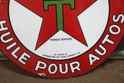 Round Texaco Double Sided Enamel Advertising sign