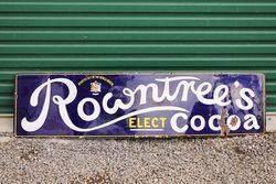 Rowntrees Chocolate Enamel Strip Sign