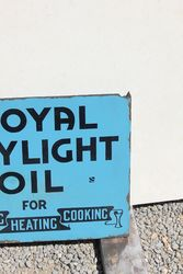 Royal Daylight Lamp Oil Double Sided Post Mount Enamel Sign