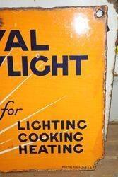Royal Daylight Oil Double Sided Enamel Advertising Sign