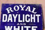 Royal Daylight White Rose Lamp Oil Enamel Sign