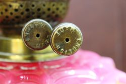 Ruby Glass Double Burner Oil Lamp