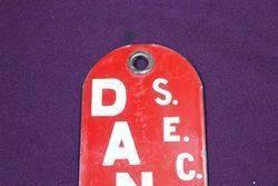 SEC Danger Enamel Sign