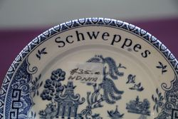 Schweppes Advertising Blue Willow Saucers By Barratts