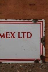 Scottish Oils and Shellmex Enamel Advertising Sign