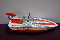 Sea Hawk S57 Boat Tin Toy