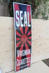 Seal Virginian Cigarettes FandJSmith Glasgow Advertising Sign