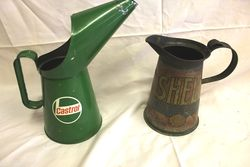Selection of Period Oil Pourer Jugs
