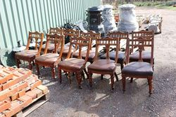 Set Of 10 Balloon Back Dining Chairs