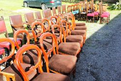 Set Of 14 Balloon Back Dining Chairs