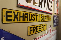 Set Of 3 Exhaust Service Free Fit Tin Sign