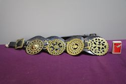 Set Of 4 Horse Brasses On Leather Straps