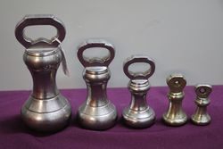 Set Of 5 Victorian Bell Weights