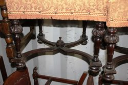 Set Of 6 19th Century Baronial Carved chairs