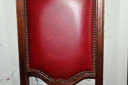 Set Of 6 Leather Backed Chairs