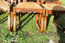 Set Of 6 Quality French Oak dining Chairs C1900