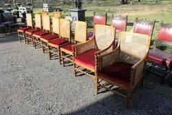 Set Of 8 Barley twist Oak Chairs