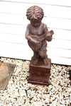 Set of 4 Cast Iron Musical Cherubs on Stands