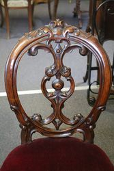 Set of 6 Antique Victorian Carved Walnut Cab Leg Chairs