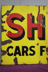 Shell Cars For Hire Double Sided Enamel Sign