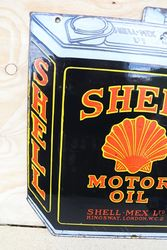 Shell Double Sided Enamel Advertising Sign in Can Shape
