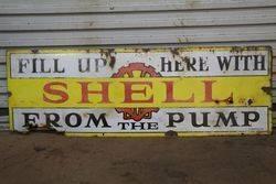 Shell Enamel Advertising Sign