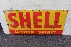 Shell Motor Spirit Enamel Advertising Sign