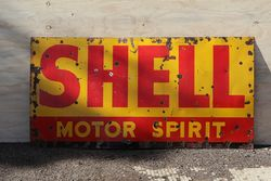 Shell Motor Spirit Enamel Advertising Sign