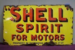 Shell Spirit Enamel Advertising sign