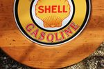 Shell Tin Sign In Wooden Frame