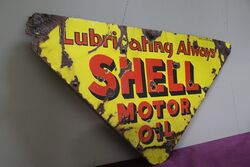 Shell Triangle Double Sided Enamel Advertising Sign