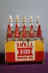 Shell X100 10 Bottle Oil Rack