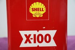 Shell X100 Oil Tin