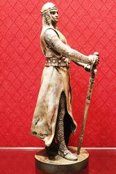 Silvered Bronze Figure of The Knight
