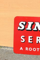 Singer Service Enamel Advertising Sign
