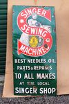 Singer Sewing Machine Advertising Enamel Sign