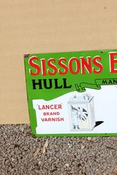 Sissons Brothers and Co Pictorial Enamel Advertising Sign
