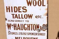 Skins Wool Hides Melbourne Advertising Sign