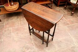 Small Antique Oak Gateleg Table