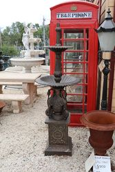 Small Cast Iron Ibis 2 Tier Fountain