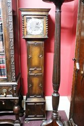 Small Early C20th Oak Grandmother Clock