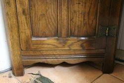 Small Oak 2 Shelf Corner Cabinet 20th Century