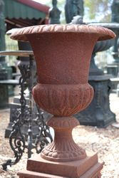 Small Romano Cast Iron Urn And Base