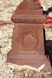 Small Sonte Cast Iron Urn On Base