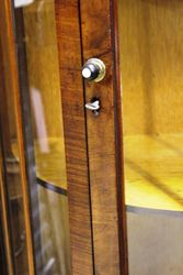 Small Walnut Half Round Display Cabinet